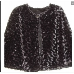 Ladies Cape Faux Fur Black