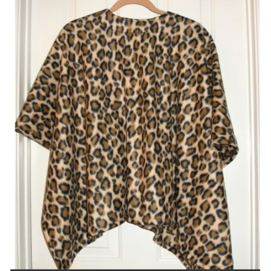 Ladies Cape Poncho Cheetah