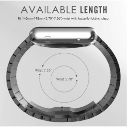 Mens Stainless Steel Strap For Apple iwatch (Gen 4 3 2 1)