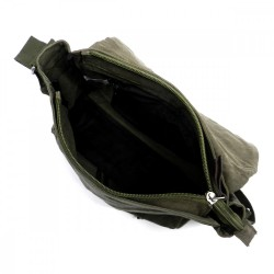 Military Canvas Messenger Bag - Mens