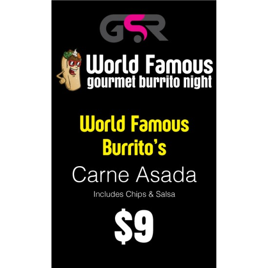 Carne Asada Burrito - PICK UP ONLY