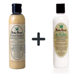 Dudu Osum Natural Shampoo + Dudu-Osum Raw Shea Butter Conditioner