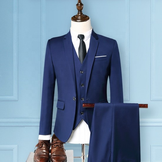 (3 PIECE MEN LUXURY SUITS CUSTOM TAILORED SUIT)